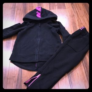 Other - Black and purple Dino sweatshirt and pants 2T